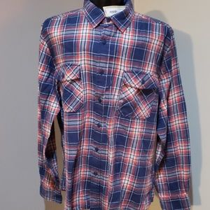 Blue and Red plaid flannel shirt
